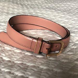 H&M blush belt with gold detail